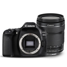 佳能(Canon)EOS 80D EF-S 18-135mm f/3.5-5.6 IS USM防抖镜头 黑色