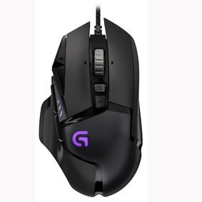罗技 G502 RGB炫光自适应游戏鼠标 黑色